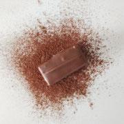 Praline à base de praliné café, au chocolat au lait.