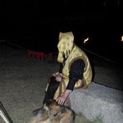 Mit Hund Olli.