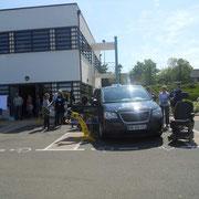 Organisation de la journée sur le parking de la MDPH de Laval