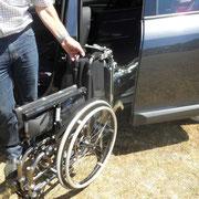 Bras de chargement du fauteuil roulant