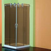 """MAMAPARA DE DUCHA MODELO """"QUEEN-A"""". Angular de ducha con 2 hojas fijas y 2 correderas con vidrio de 8 y 10 mm"""
