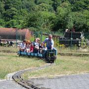 Train miniature pour enfants - Gare de Treignes