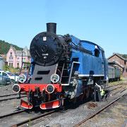 Locomotive à vapeur - Gare de Treignes