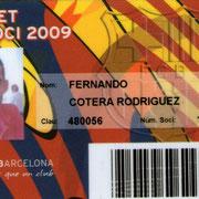 Carnet de Socio # 131,356 - Año 2009