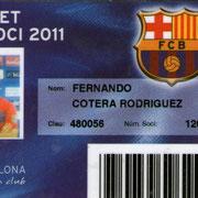 Carnet de Socio # 120,314 - Año 2011