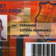 Carnet de Socio # 137,010 - Año 2008