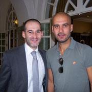 Con Josep Guardiola