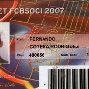 Carnet de Socio # 143,681 - Año 2007