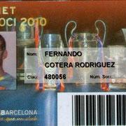 Carnet de Socio # 124,251 - Año 2010