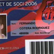Carnet de Socio # 149,389 - Año 2006
