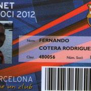 Carnet de Socio # 116,559 - Año 2012