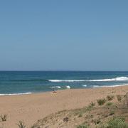 la mer près du bivouac