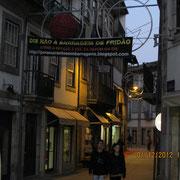 eine Straße in Amarante