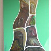 Viaggio interno    65x85               mit Rahmen weiss