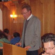 Ortsvorsteher Lothar Lauer bei seiner Ansprache
