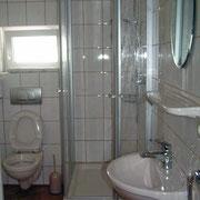 Dusche / WC in der Fewo Gänseblümchen