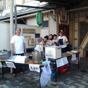 2013年くじら祭り:店頭で生ビールと浜千鳥を販売!