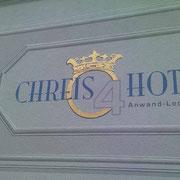 Fassadenbeschriftung - CHREIS 4 HOTEL