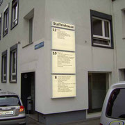 Fassadenbeschriftung - Staffelstrasse