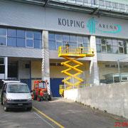 Fassadenbeschriftung - KOLPING ARENA