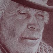 kanarischer Mann (Farbstift), 20,5 x 21,5 cm, gerahmt