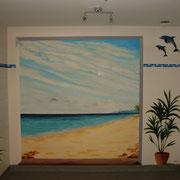 Wandmalerei (Acryl), verkauft