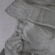 Trauer (Bleistift), 22 x 30 cm, gerahmt