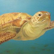 Meeresschildkröte (Öl), verkauft
