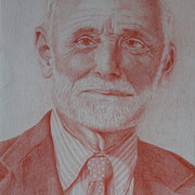 J.K. (Farbstift), 20 x 30 cm, gerahmt