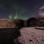 aurora borealis | skógafoss | island 2016
