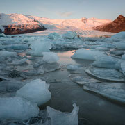 sunrise galcier lagoon fjallsjökull | iceland – 2016