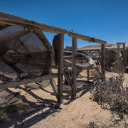 manual centrifuge in the old mine of pomona | diamant restricted | namibia 2015