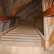 Treppe zum Mahlboden