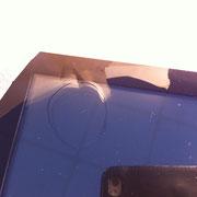 Glaskratzer aus Hochleistungsscanner entfernen - Kratzer in der Ecke