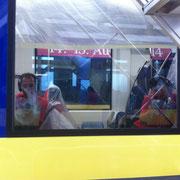 Glaskratzer Bahnscheibe - Zwei Glaspolierer