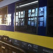 Glaskratzer Bahnscheibe - Aussenansicht