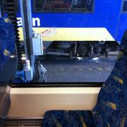 Glaskratzer Bahnscheibe - nachher