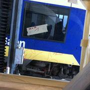 Glaskratzer Bahnscheibe - vorher nahaufnahme