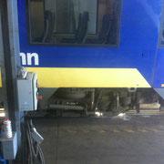 Glaskratzer Bahnscheibe - Schleifstufe 3
