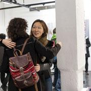 Finally meeting in person! Anna LEE (Sandoll Communications) and Mattea STAHL (KOCHAN & PARTNER)