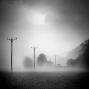 """Title: """"After the thunderstorm 03, b&w"""", may 2017 (printed on """"bamboo"""")"""