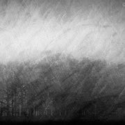 """Lost in tranquility 07, b&w, december 2015, composite image 2018 (printed on """"bamboo"""")"""