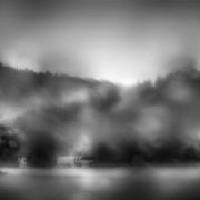 "Title: ""Liquid landscape 01, b&w"", 2020 (printed on ""bamboo"")"