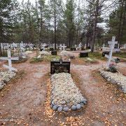 Orthodoxer Friedhof Sevettijärvi.