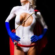 power girl bodypaint, power girl bodypainting, power girl body paint, superheroine body paint, comic body paint, superwoman body paint, power girl nude, avengers nude, avengers body paint