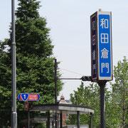 和田倉門交差点/国道1号線標識