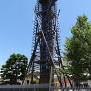 国技館の櫓 / 名古屋では本場所の真っ最中です
