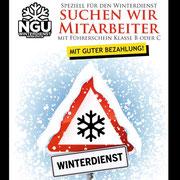 Die NEVER GIVE UP Winterdienst GmbH sucht zuverlässiges Personal
