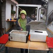 Sven beim Kochen