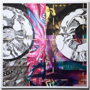 強引の必要性 915x915x40mm / acrylic on canvas / 2017